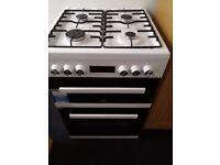 Beko KDDF653W Double Dual Fuel Cooker