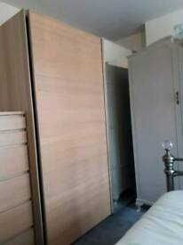Ikea Pax Wardrobe, 1x Tallboy Unit and 2x Malm bedside drawers