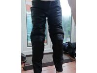 Leather motorbike trousers - ladies XS