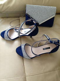 quiz size 5 shoes and matching clutch bag