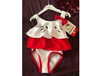 Baby swimming costume hello kitty and Minnie Mouse