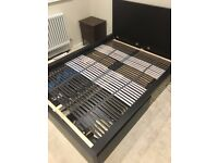 IKEA MALM Double Bed Frame w/ Storage Boxes