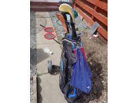 Golf clubs various items for golf