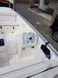 2006 Avon Seasport 490DL RIB Sports Boat 100HP Mercury with Trailer