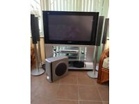 "Panasonic 42"" plasma tv with Sony DVD and surround sound system"