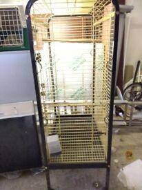 Large metal bird cage