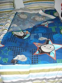 Thomas the tank engine curtains duvet cover and pillowcase