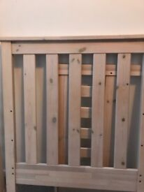 Mothercare cot/bed, wardrobe, chest of drawers