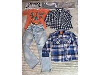 Boys 4-5 clothes bundle, jeans, shirts, M&S,H&M ,next, vgc