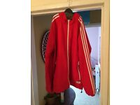Large Red adidas tracksuit jacket