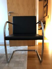 Brno Tubular Mies Van Der Rohe inspired chairs (total of 4)