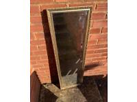 Large gilt hallway mirror