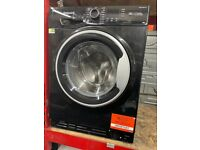 8KG BLACK HOTPOINT WASHING MACHINE GRADED NOT USED
