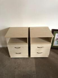 Beech bedside cabinets