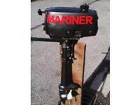 MARINER 2HP BOAT OUTBOARD MOTOR GOOD CONDITION