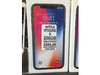 IPHONE X 256GB UNLOCKED brand new with 12MONTH apple warranty