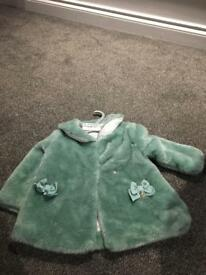 Mayoral jacket 12 months fux fur