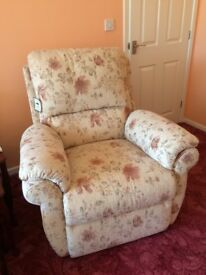 Almost new Aldiss electric recliner chair £225