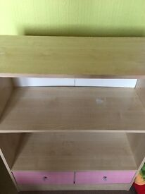 I am selling a Table with shelfs on and two tine cupboard