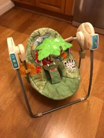 Fisher price rainforest musical baby swing