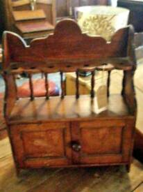 Vintage pipe smokers cabinet