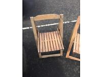 4 small solid wooden garden chairs £20 free Delivery.