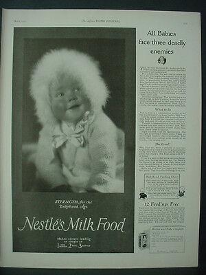 1925 Nestle Milk Food Dairy Cute Baby Picture Vintage Print Ad 11912