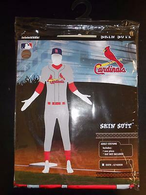 New MLB St. Louis Cardinals Adult One Size Full Body Skin Suit Halloween Costume