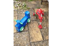 Scuttle bug and Little Tikes ride on train