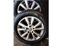 Vw 18 inch alloys wheels and tyres