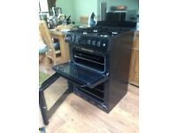 Belling black freestanding double oven gas cooker for sale