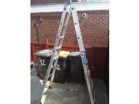 Zarges z500 telescopic multi function aluminium ladders