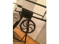 FANTASTIC VINTAGE SCROLL SAW, STILL IN A GREAT WORKING CONDITION. FOOT OPERATED. HAS USUAL PATINA.