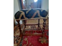Small Footstool - suitable reupholstery project