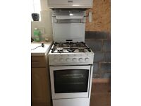 Free standing New World gas cooker with eye level grill in good working condition to be collected .