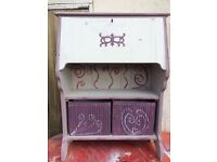 Bureaux, upcycled for girls room. With two baskets.