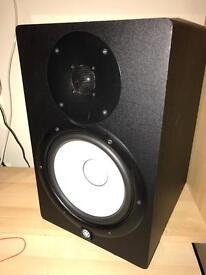 Yamaha HS8 studio active monitors.