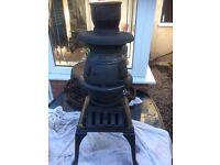 Clarke en 13240 pot belly wood burning stove.
