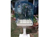 FOP large bird cage and stand