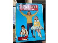 School Friend Annuals. 1954,1959,1960,1961,1962