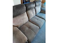 Large 3 seater recliner sofa