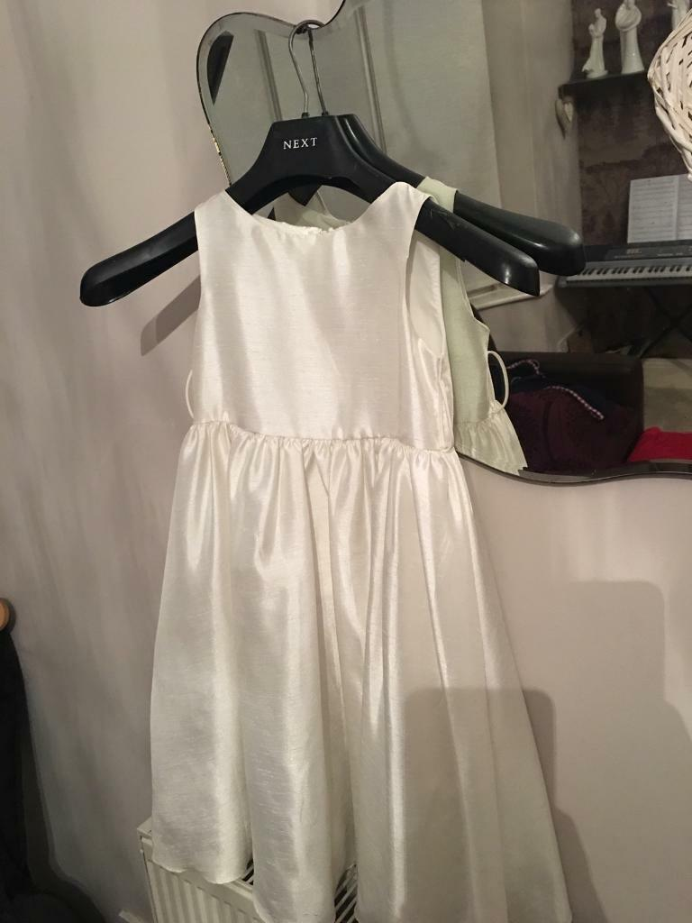 WHITE AGED 6 BRIDESMAID DRESS