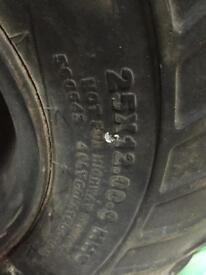 Quad bike tyre and rim