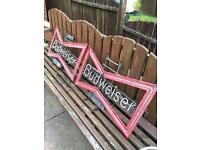 Budweiser neon signs for spares or repair