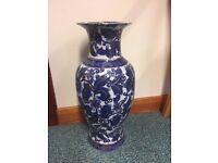 Satsuma Blue & Gold Vase