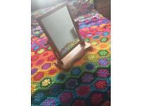 Wooden vanity mirror