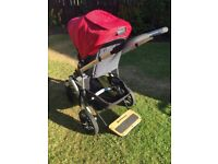 Uppababy Vista travel system,With piggyback buggy board,maxi cosi cabriofix car seat & easy fix base