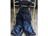 Baby Boy Gap Supersoft Denim Overalls 6-12 Months