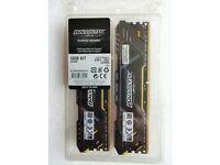 2 X 8GB Crucial Ballistix DDR4 3200 CL16 memory