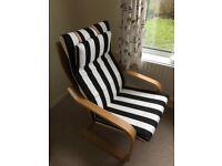 Comfy oak-veneer armchairs - nearly new